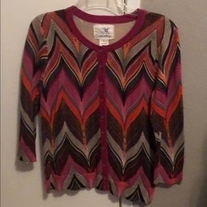 Multicolor cardigan from Anthropologie